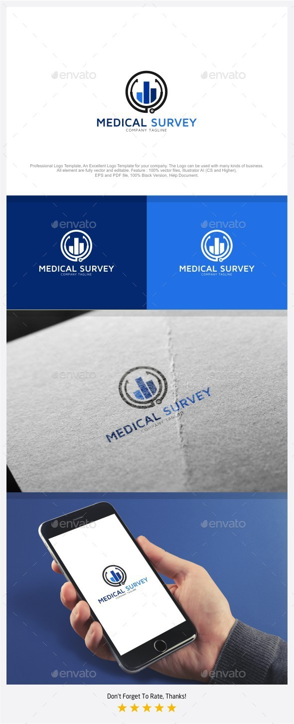 Medical Survey Logo - Objects Logo Templates