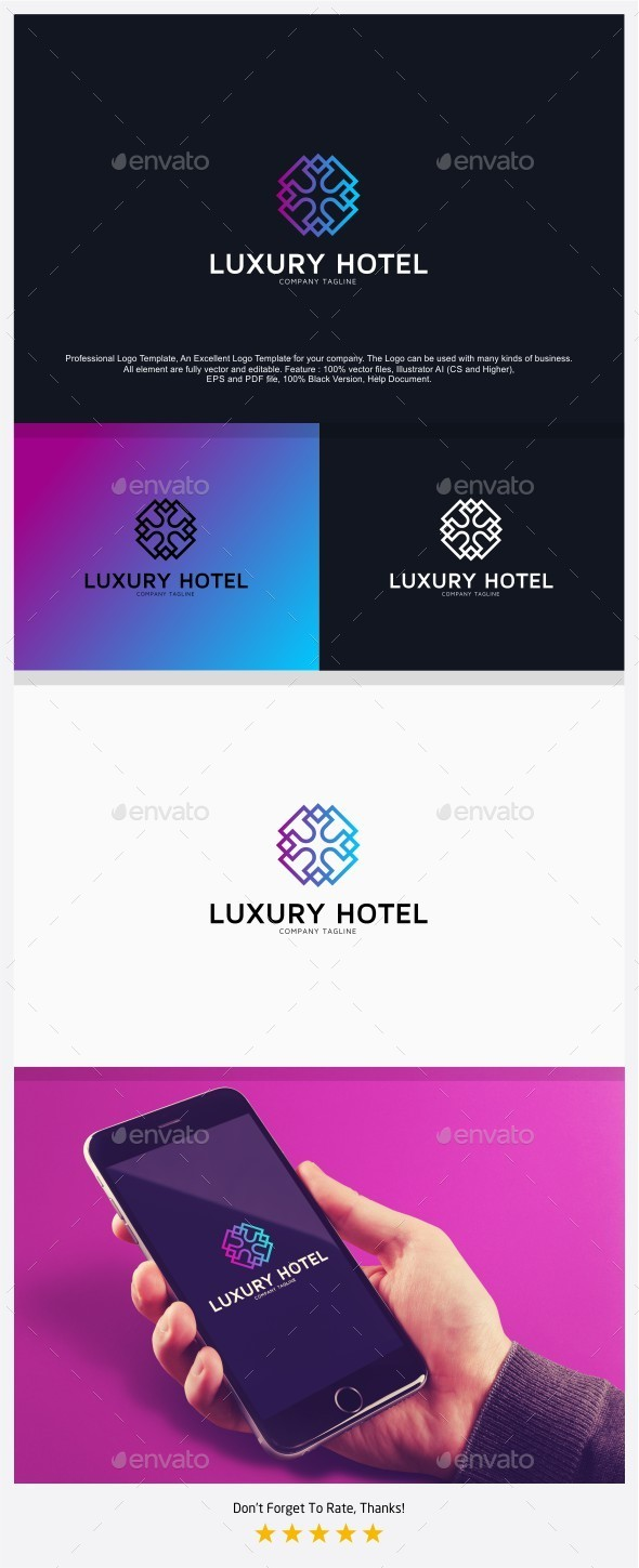 Luxury Hotel Logo - Abstract Logo Templates