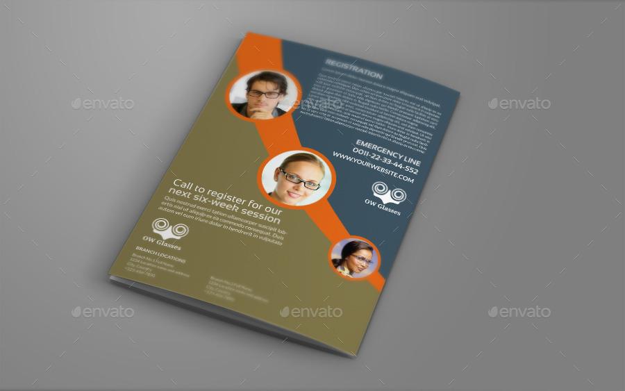 Optometrist Optician Bi Fold Brochure Template By Owpictures