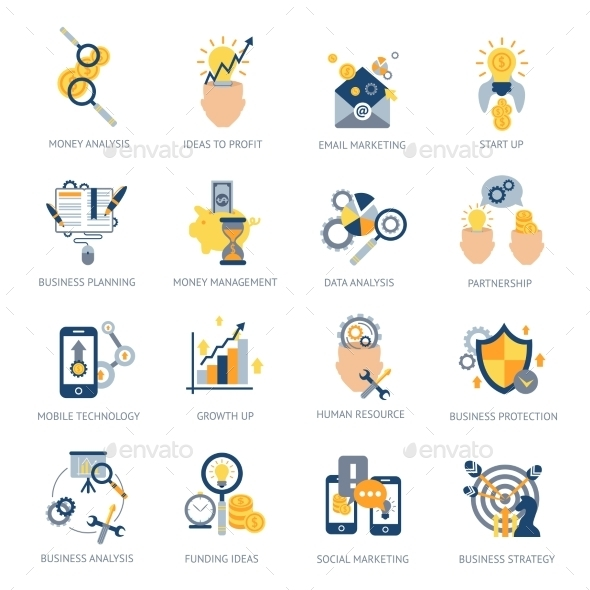 Business Analysis Icons Set - Business Icons