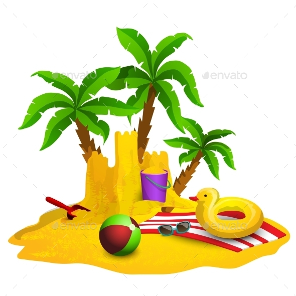 Beach Rest Background  - Travel Conceptual