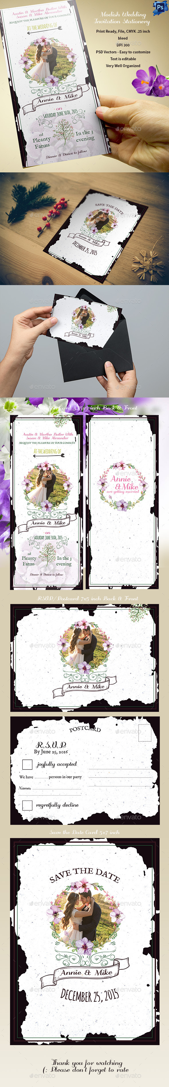 Modish Wedding Invitation Stationery - Weddings Cards & Invites