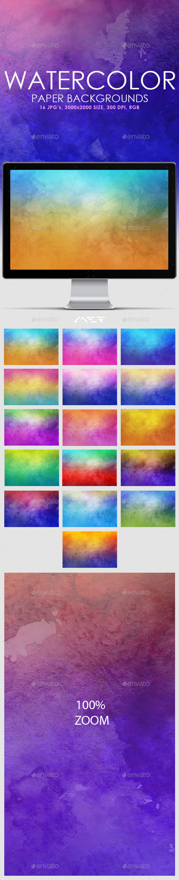 Watercolor Paper Backgrounds - Backgrounds Graphics