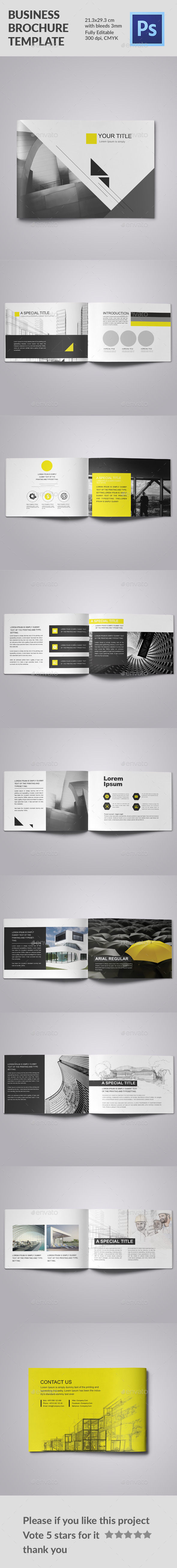 Business Brochure Yellow Triangle