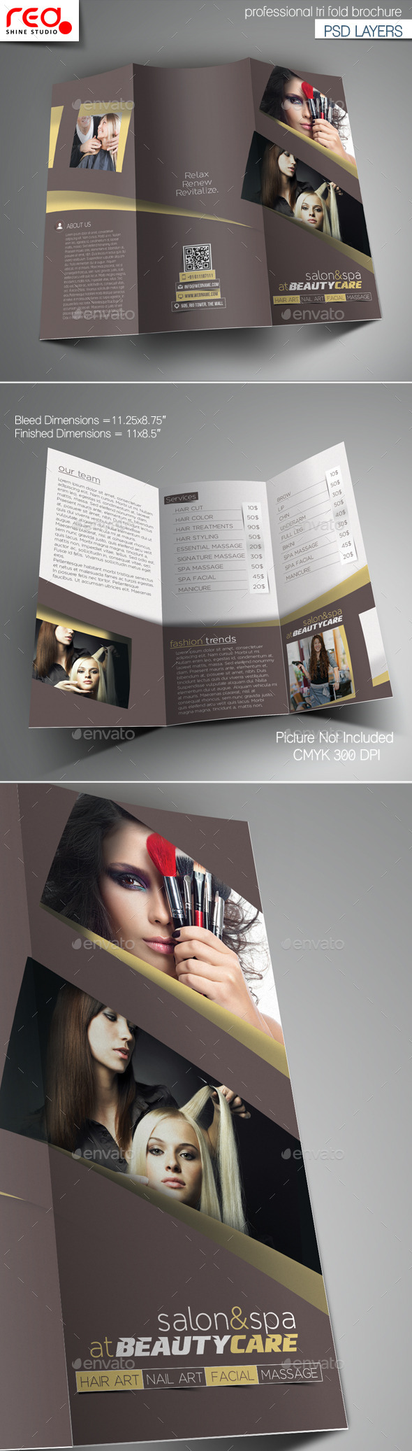 Salon Tri-Fold Brochure Template