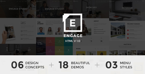Engage – One Page for Agency, Interior & Portfolio
