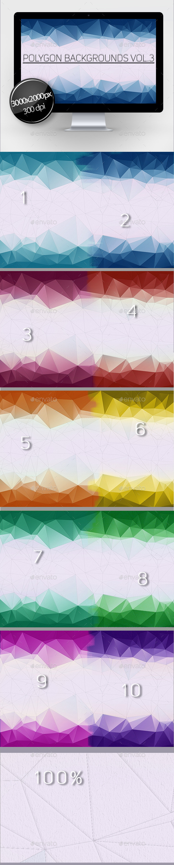 Polygon Backgrounds Vol.3 - Abstract Backgrounds