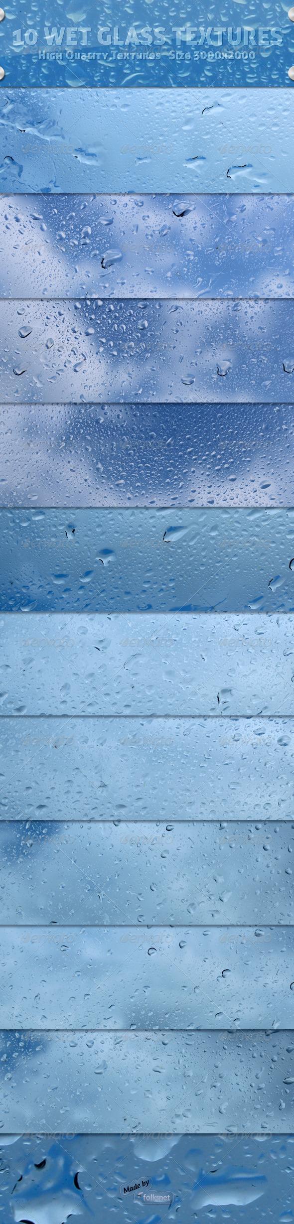 Wet Glass Textures - Liquid Textures