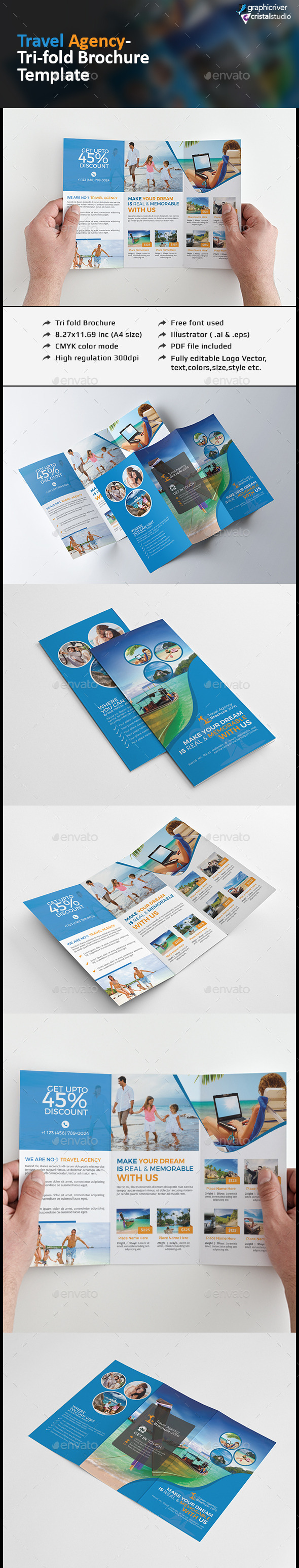 Travel Agency Tri fold Brochure - Corporate Brochures