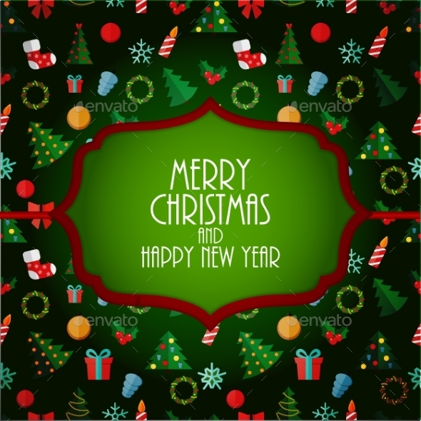 Abstract Christmas and New Year Background - Backgrounds Decorative