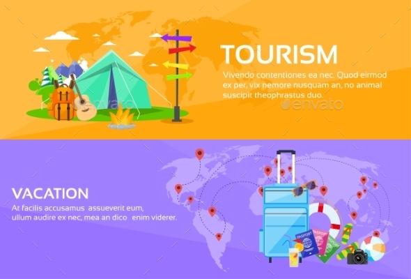 Tourism Travel Vacation Trip Destinations - Travel Conceptual