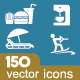 Hotel, Travel and Food icon set 150+ - GraphicRiver Item for Sale