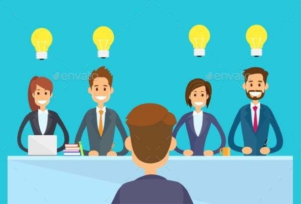 Business People Idea Concept Light Bulb Sitting