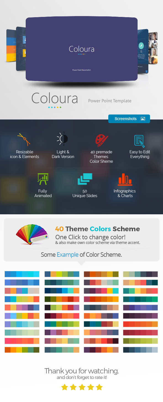 coloura power point presentation by haicamon graphicriver