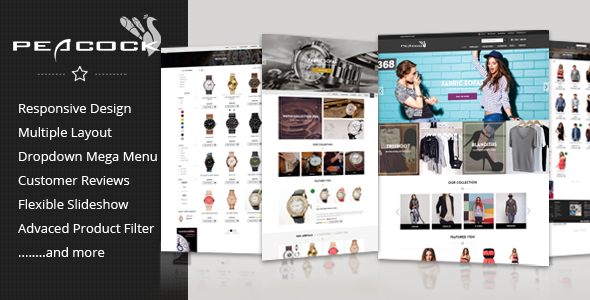 Peacock – Multipurpose Responsive Shopify theme