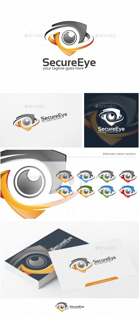 Secure Eye Camera Logo Template