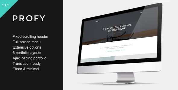 Profy - Clean Ajax Powered Portfolio Theme - Portfolio Creative