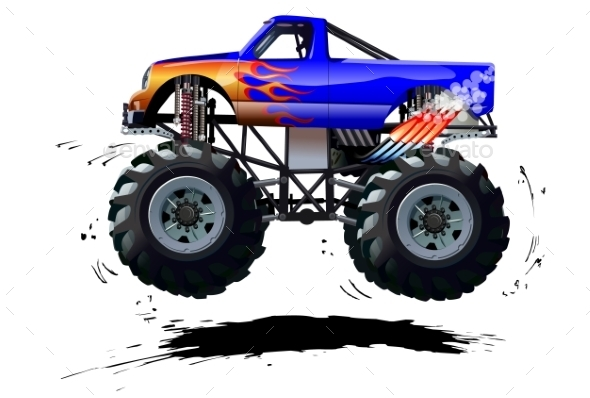 Cartoon Monster Truck By Mechanik Graphicriver