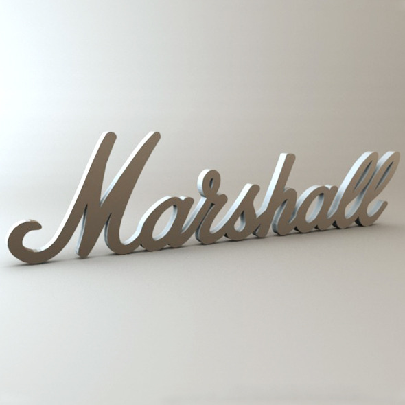 Marshall Logo - 3DOcean Item for Sale