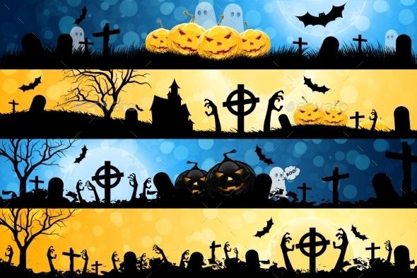 Halloween Posters Set - Halloween Seasons/Holidays