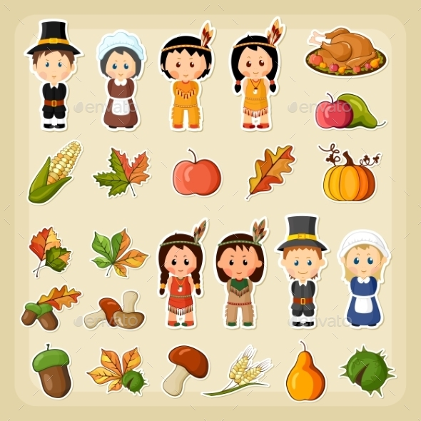 Thanksgiving Harvest Icon Set - Miscellaneous Seasons/Holidays