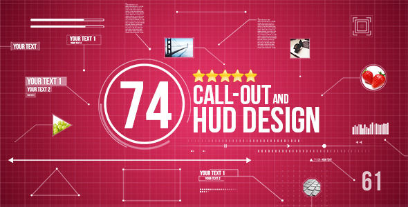 74 Call-Out and Hud Design Pack