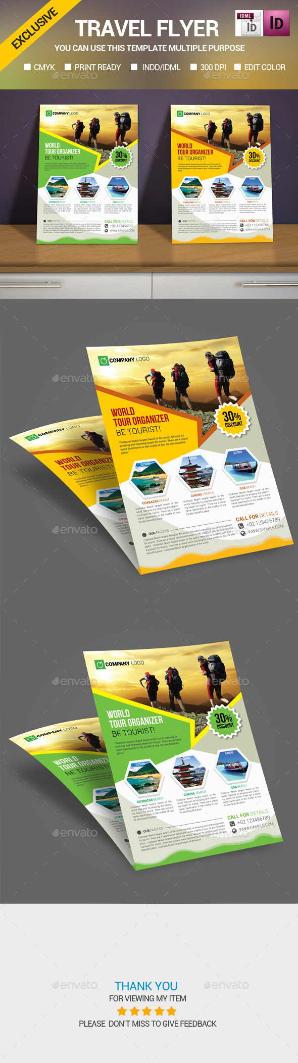 Travel/Tour flyer Template - Print Templates