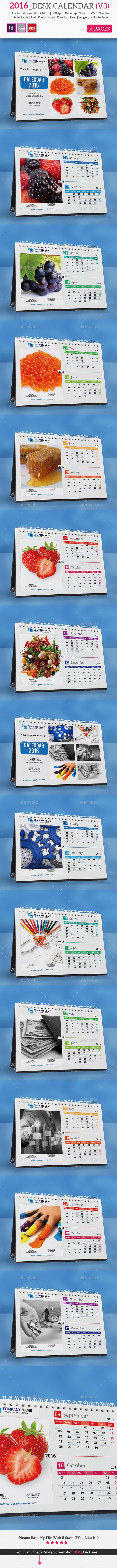2016_Desk Calendar V3 - Calendars Stationery