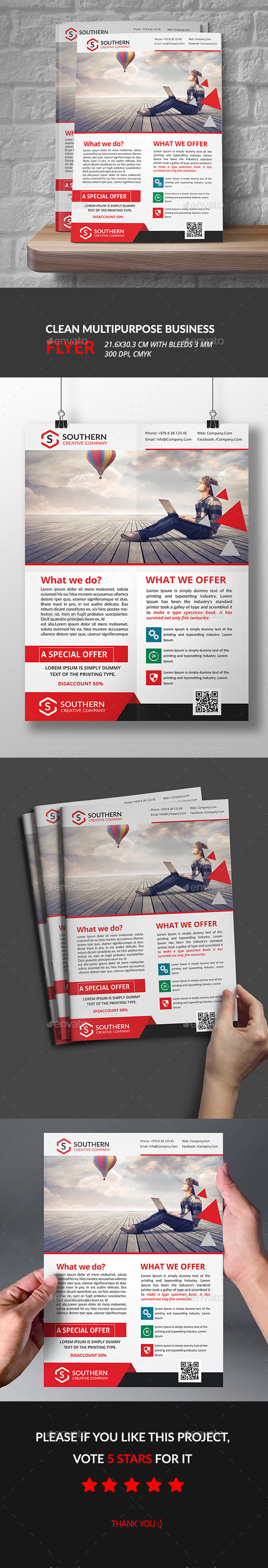 Clean Multipurpose Business Flyer