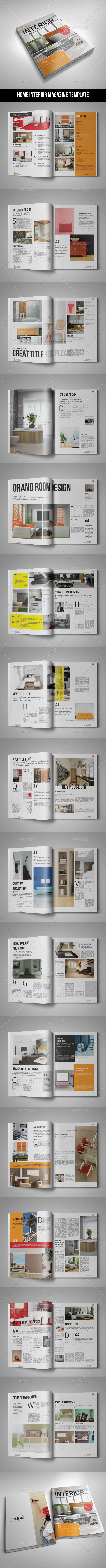 42 Pages Homme Interior Magazine Template