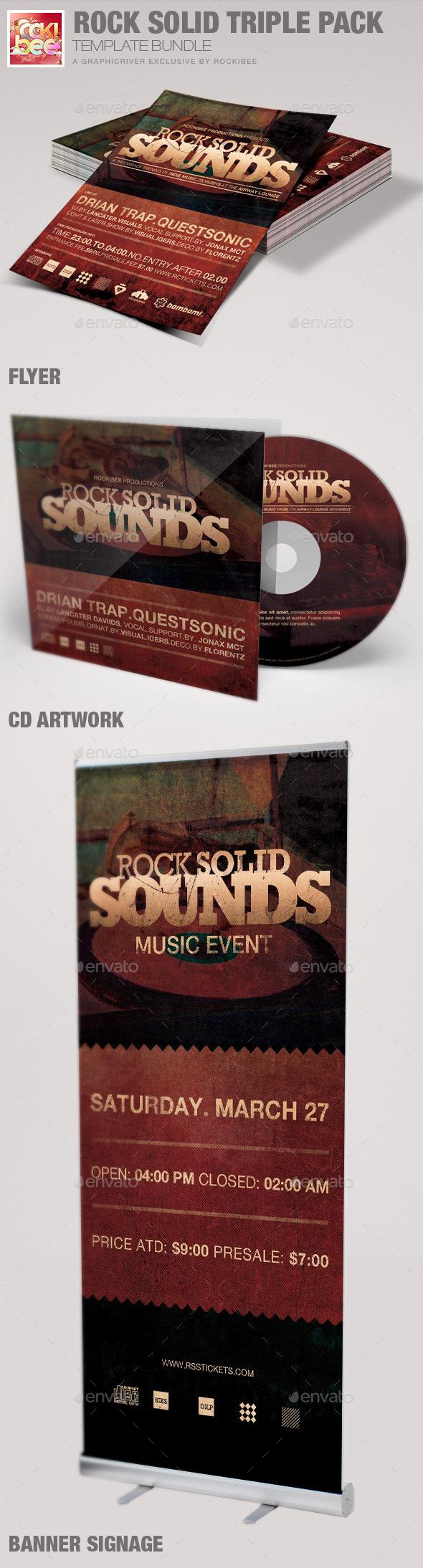 Rock Solid Triple Pack Template Bundle - Miscellaneous Events