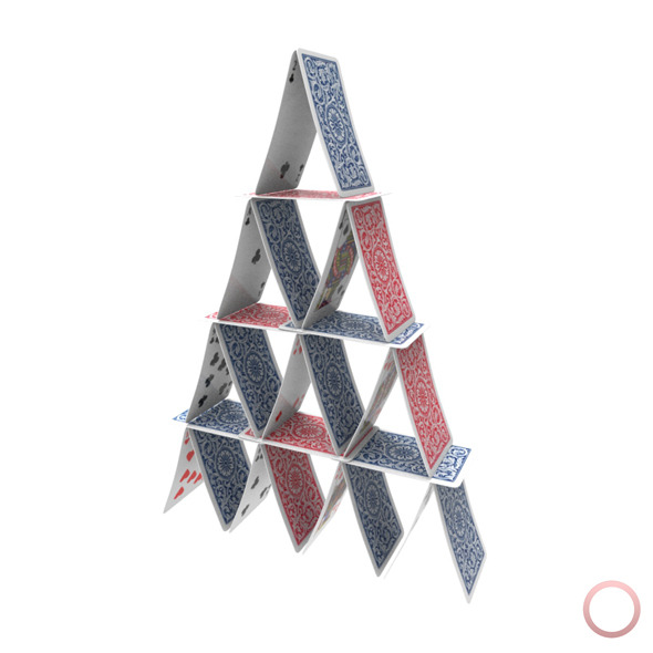Playing Cards Pyramid Figure - 3DOcean Item for Sale