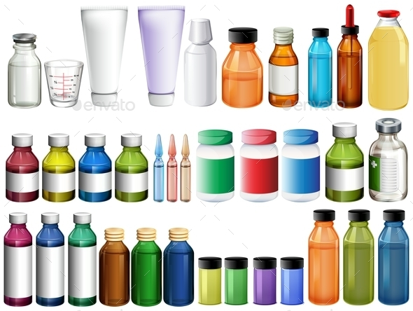 Medicine in Bottles and Tubes - Health/Medicine Conceptual