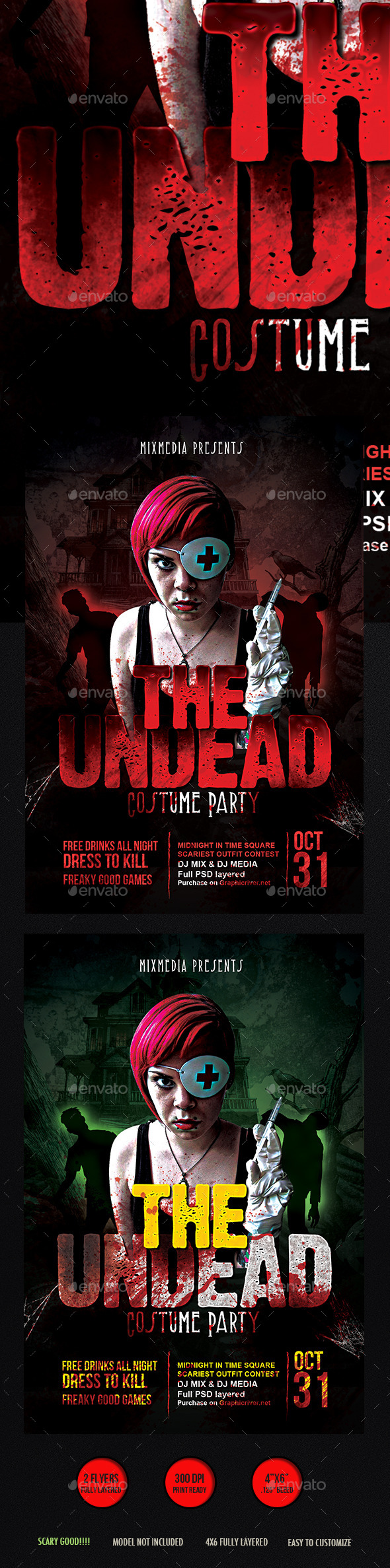 Undead Halloween Flyer - Events Flyers