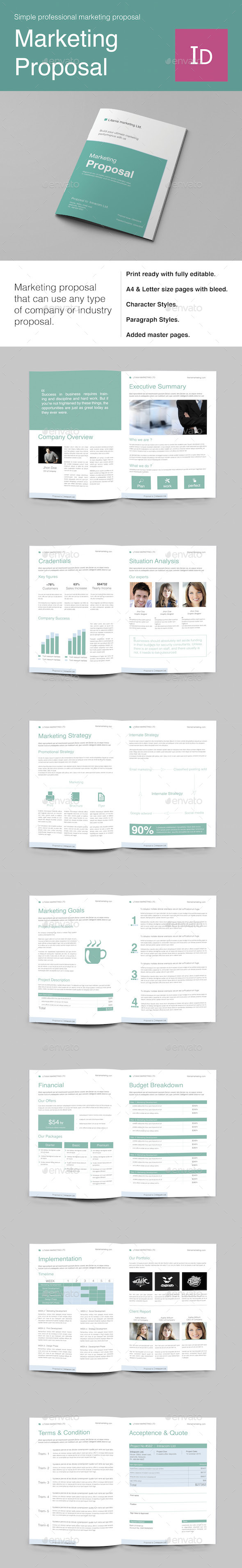 Marketing Proposal - Proposals & Invoices Stationery