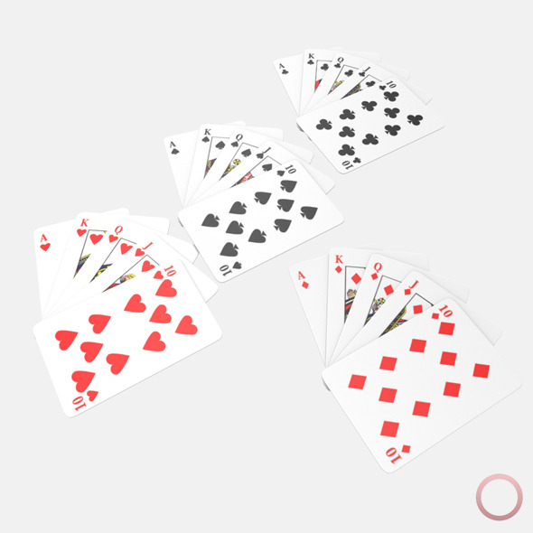 Royal Flush Poker Hand - 3DOcean Item for Sale