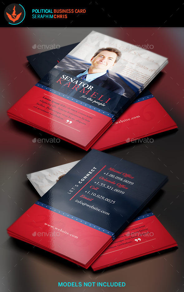 Political Election Business Card 2 Template by SeraphimChris ...