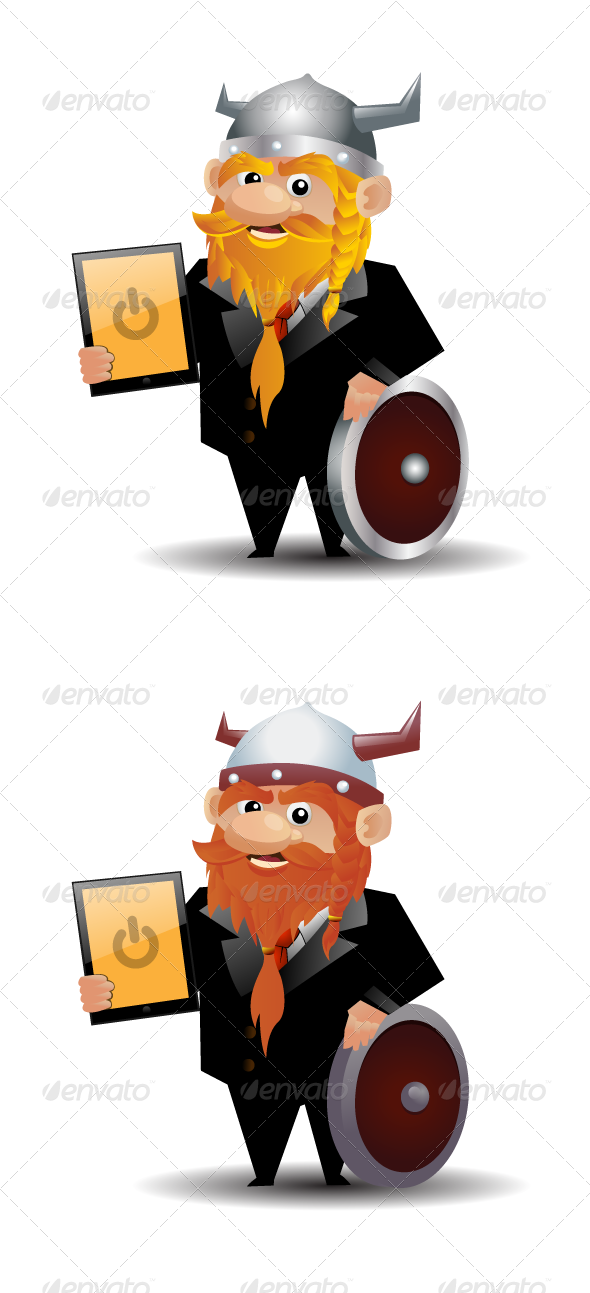 Modern Viking In Suit - People Characters