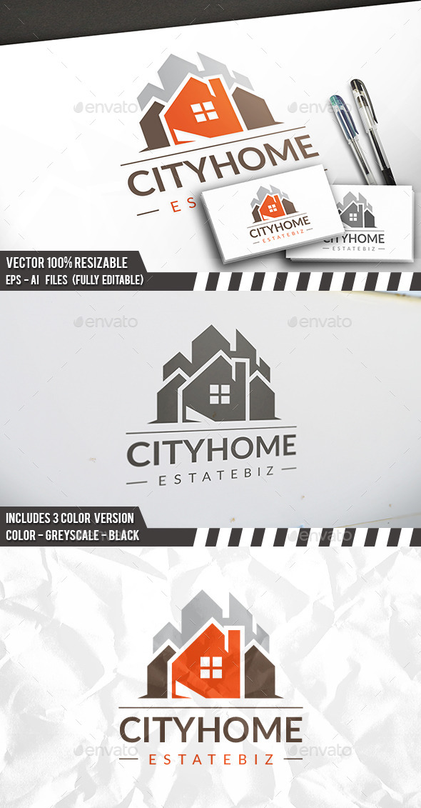 City Construction Logo Template - Buildings Logo Templates