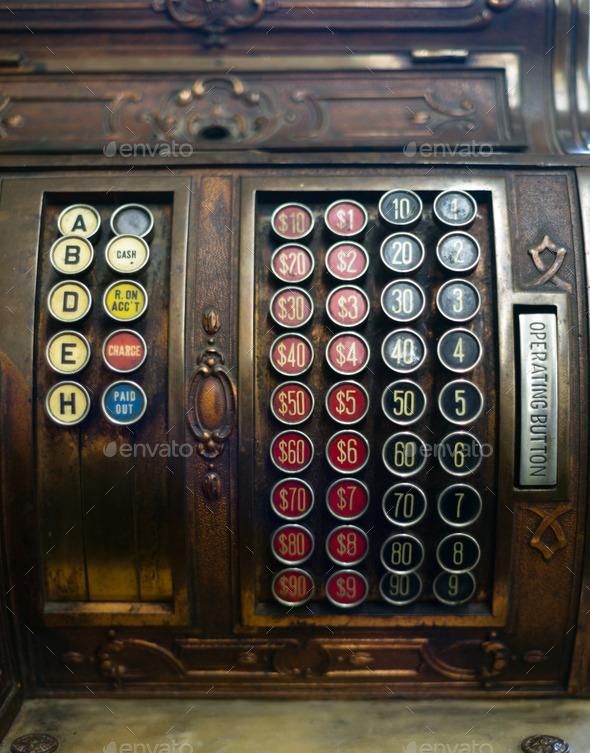 Vintage Cash Register Adding Machine Antique Merchant Tool - Stock Photo - Images