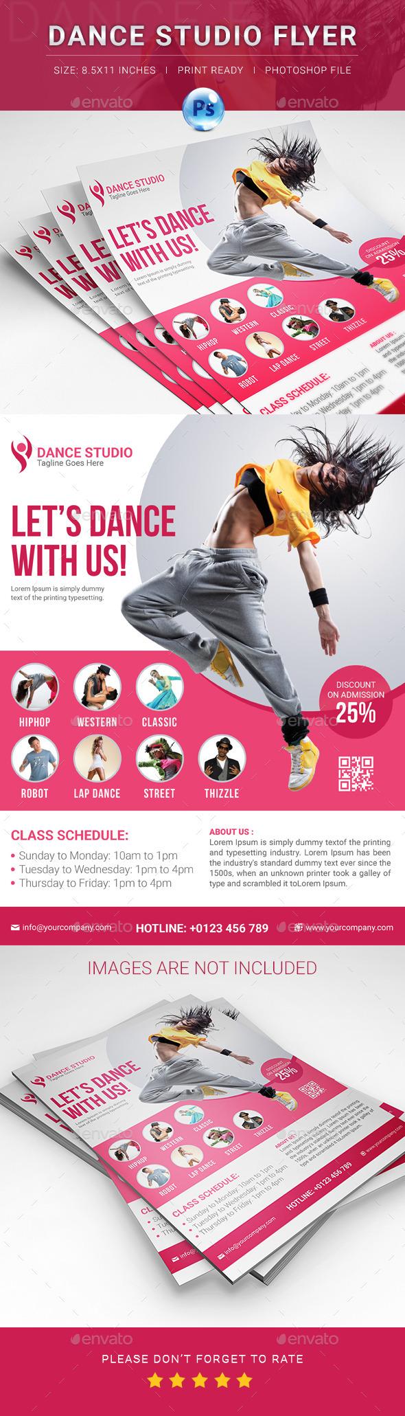 Dance Studio Flyer - Flyers Print Templates
