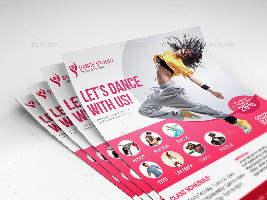Dance Studio Flyer by Elite_Designer | GraphicRiver