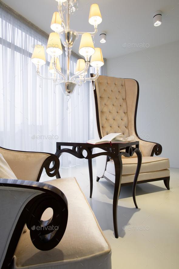 Comfortable retro armchairs - Stock Photo - Images