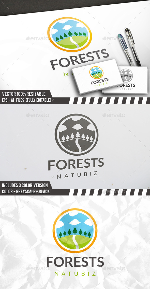 Clean Forest Logo - Nature Logo Templates