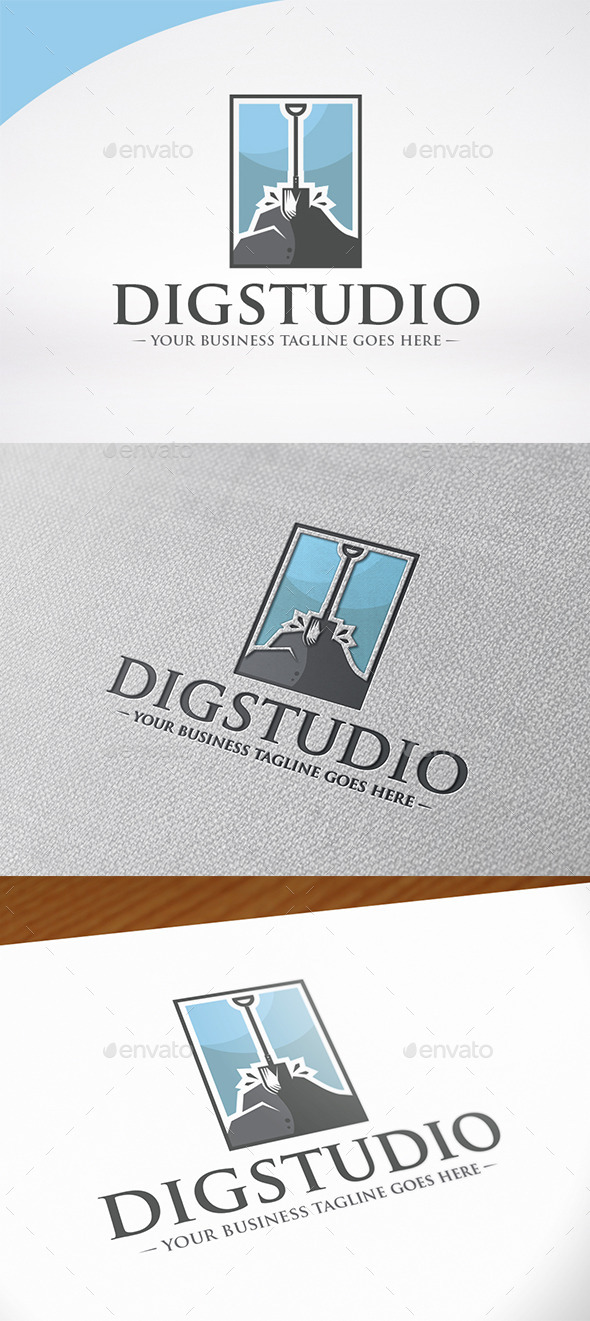 Dig Studio Logo Template - Nature Logo Templates