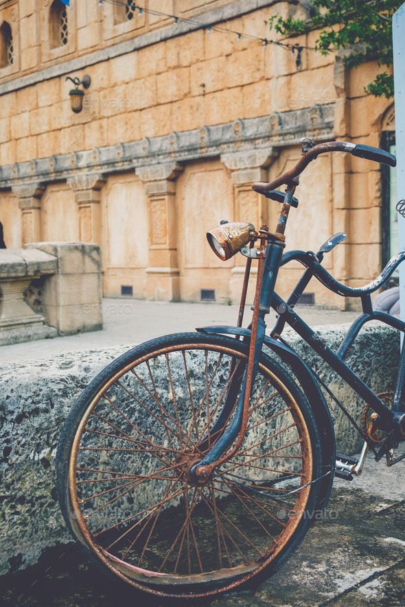 Old rusted bicycle - Stock Photo - Images