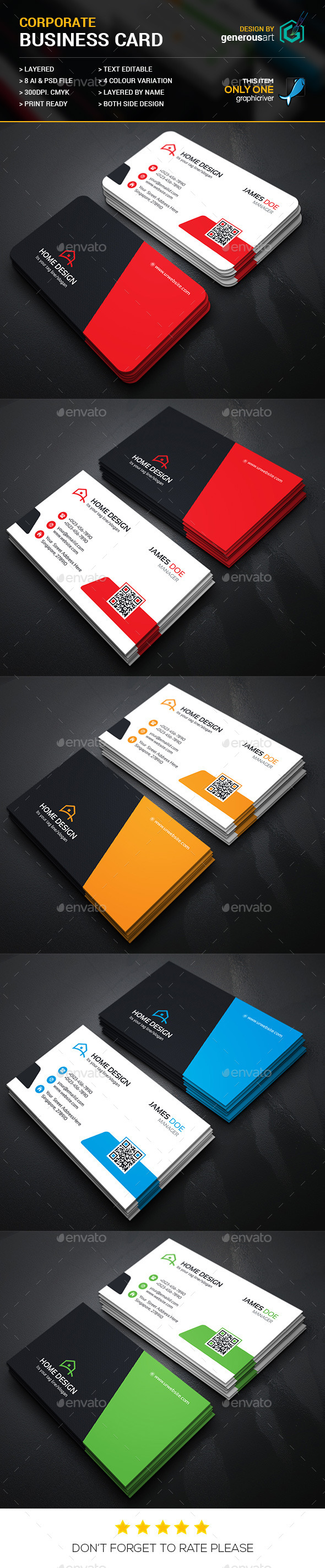 Home Design Business Card_2 - Corporate Business Cards