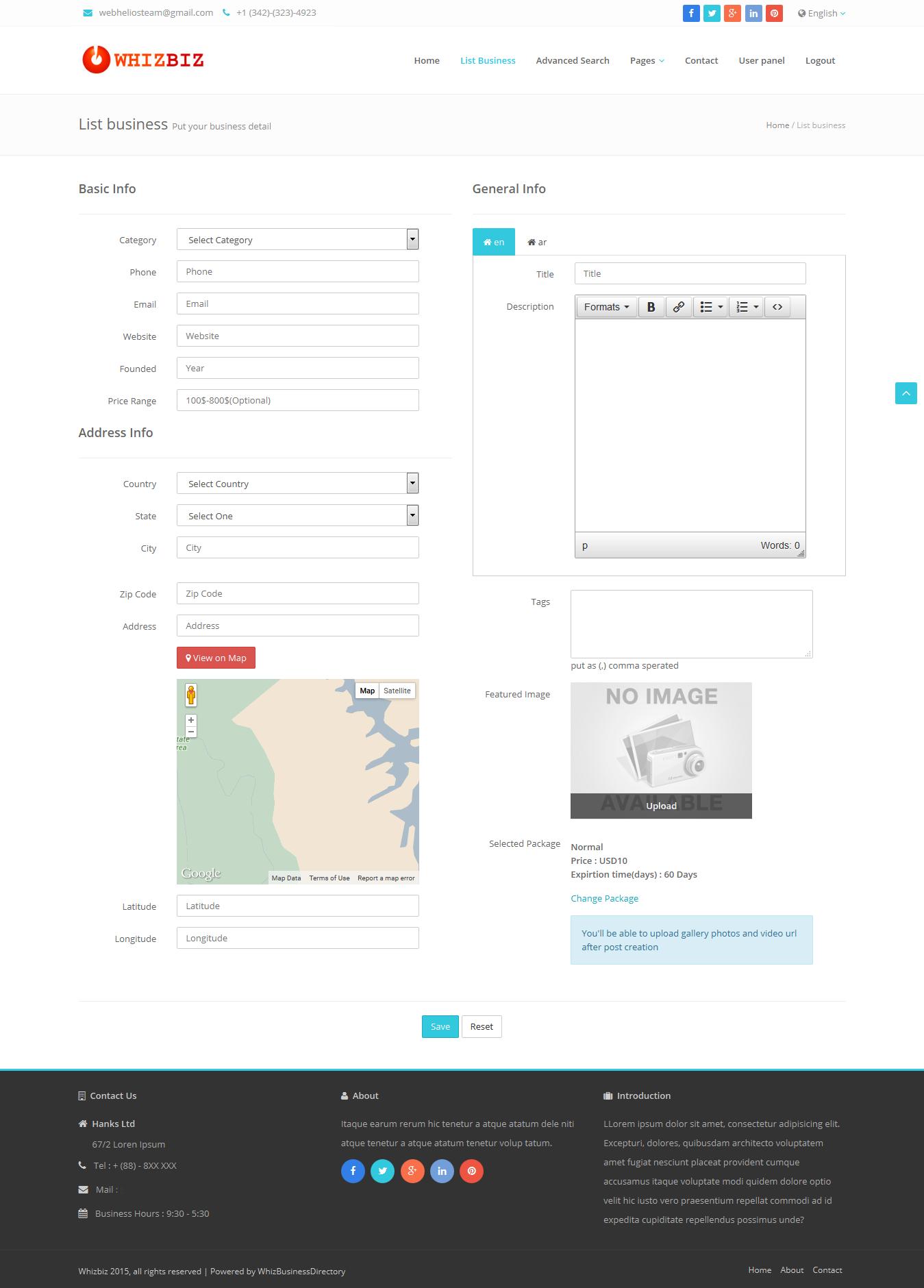 whizbiz business directory cms by webhelios codecanyon