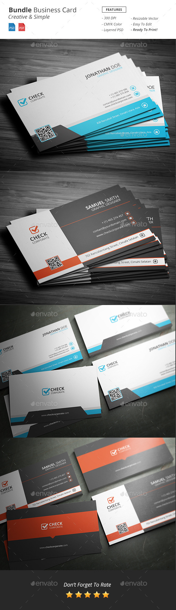 Bundle Business Card - Business Cards Print Templates