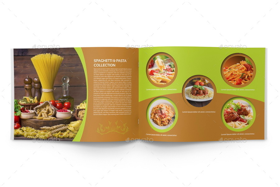 Food Products Catalog Brochure Template   Pages By Owpictures